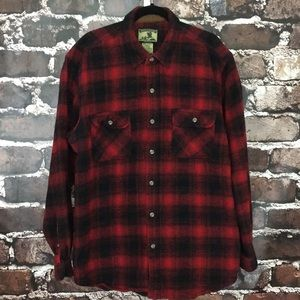 Other - Field & Stream XXLT flannel shirt red black Tall
